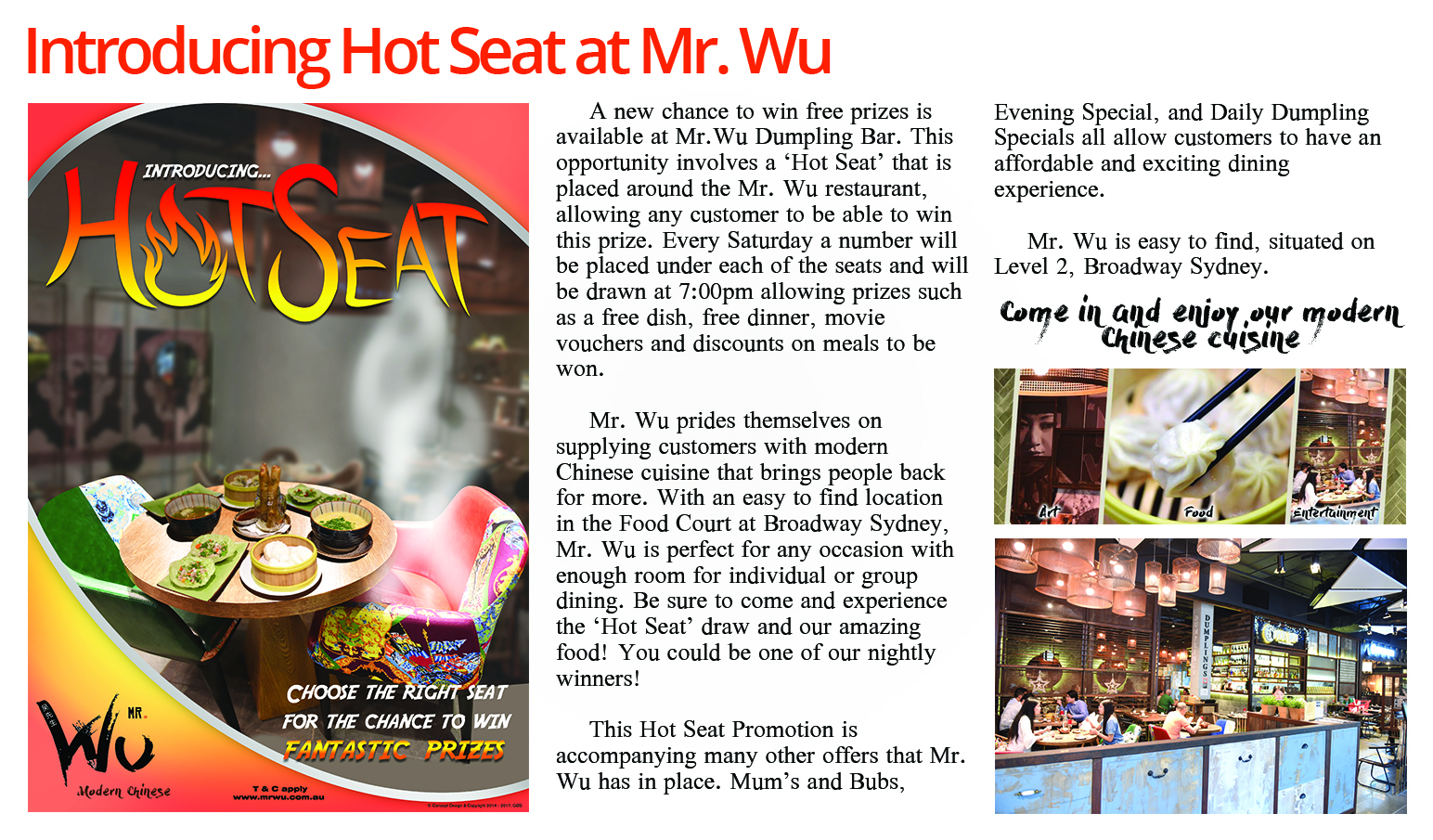 Hot Seat Mr. Wu